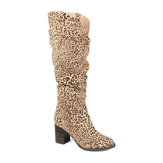 Journee Collection Womens Aneil Wide Calf Stacked Heel Over the Knee Boots