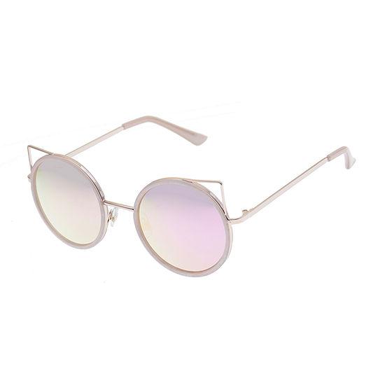 Arizona Womens Junior Full Frame Cat Eye UV Protection Sunglasses