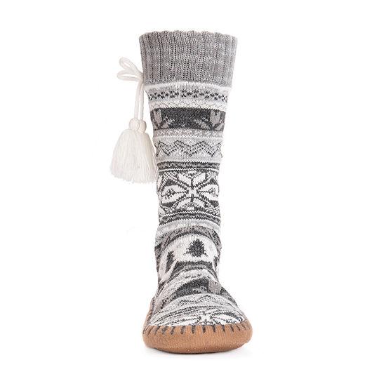 Muk Luks 1 Pair Slipper Socks Womens