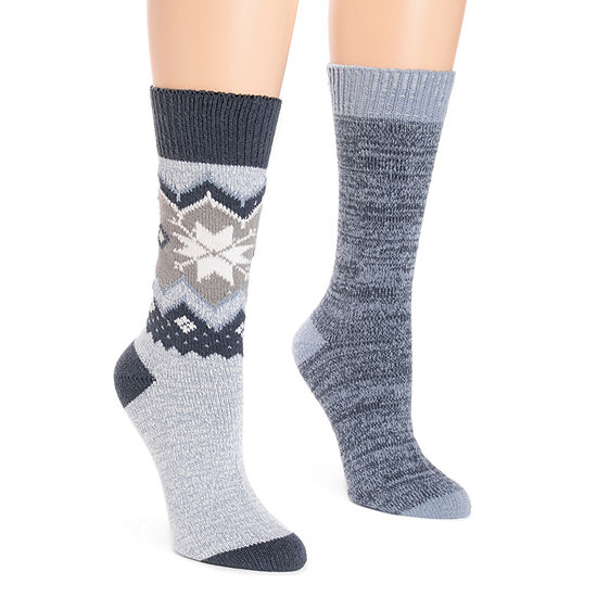 Muk Luks 2 Pair Boot Socks - Womens