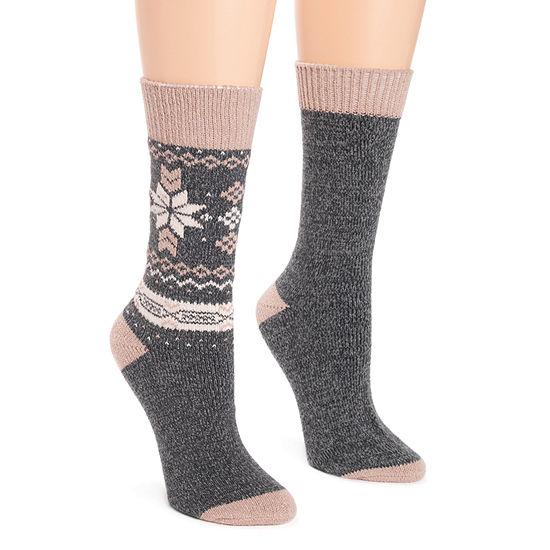 Muk Luks 2 Pair Boot Socks - Womens