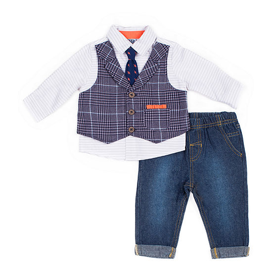 Little Lad Boys 2-pc. Plaid Pant Set Baby