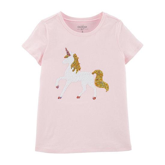 Oshkosh Crew Neck Short Sleeve T-Shirt Preschool / Big Kid Girls