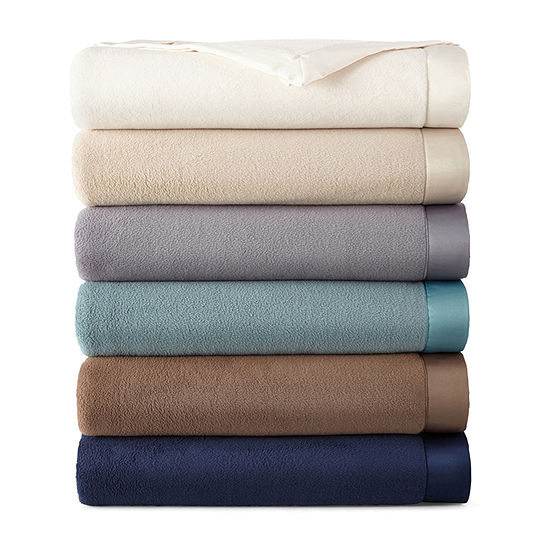 Home Expressions Micro Fleece Satin Trim Blanket