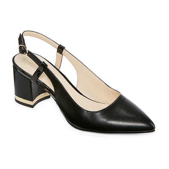 Liz Claiborne Womens Bay Pumps Block Heel