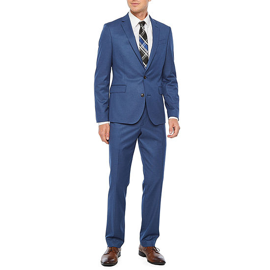 JF J. Ferrar Ultra Comfort Slate Blue Super Slim Suit Separates