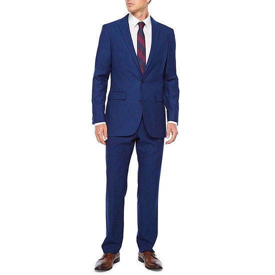 JF J. Ferrar 360 Stretch Bright Blue Luster Slim Fit Suit Separates