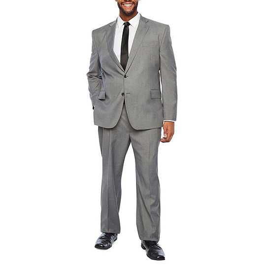 JF J. Ferrar Ultra Comfort Gray Suit Separates - Big & Tall