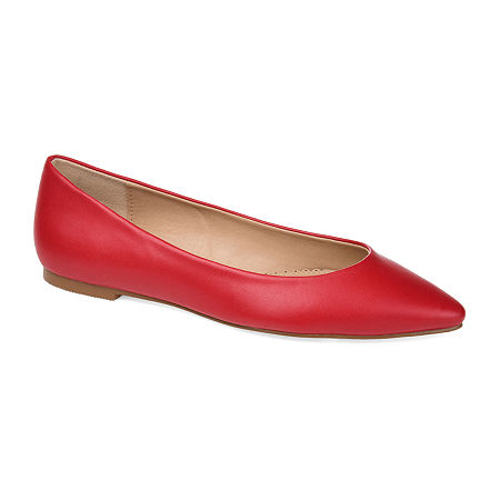 Retro Vintage Flats and Low Heel Shoes Journee Collection Womens Moana Slip-On Shoe 12 Medium Red $44.99 AT vintagedancer.com