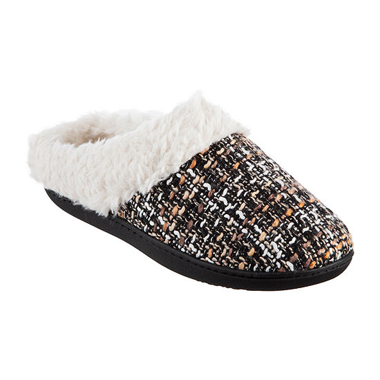 Isotoner Tweed Hoodback Womens Slip-On Slippers