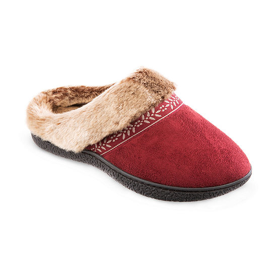 Isotoner Microsuede Hoodback Womens Slip-On Slippers