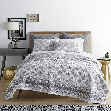 JCPenney Home Emma Bohemian Reversible Quilt, One Size , Multiple Colors