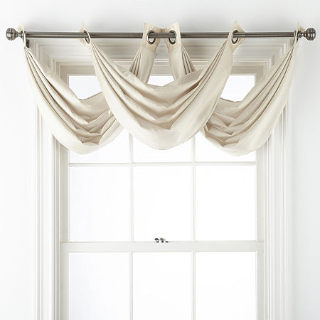 JCPenney Home Malone Grommet-Top Valance, One Size , White