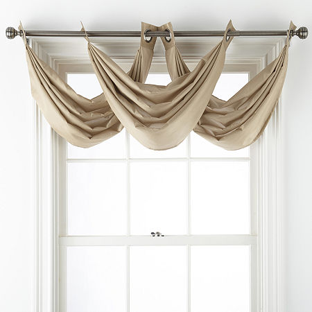 JCPenney Home Malone Grommet-Top Valance, One Size , Beige