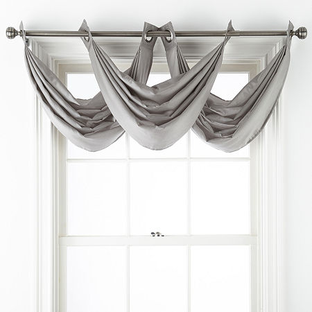 JCPenney Home Malone Grommet-Top Valance, One Size , Gray