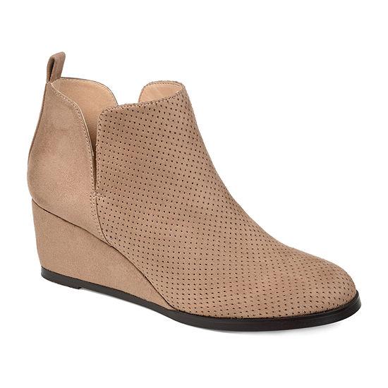 Journee Collection Womens Mylee Booties Wedge Heel