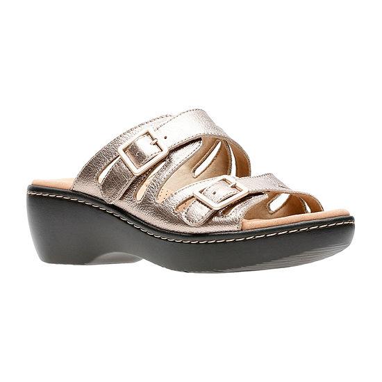 Clarks Womens Delana Liri Slide Sandals