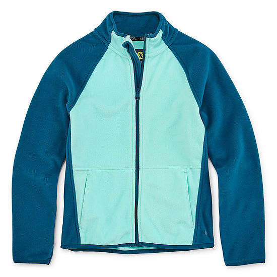 Xersion Little & Big Girls Fleece Lightweight Jacket