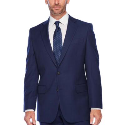 Stafford Super Suit Striped Classic Fit Suit Jacket