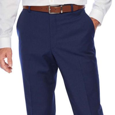 Stafford Super Suit Striped Classic Fit Suit Pants