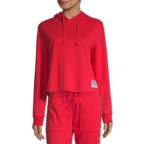 U.S. Polo Assn. Womens Long Sleeve French Terry Hoodie-Juniors