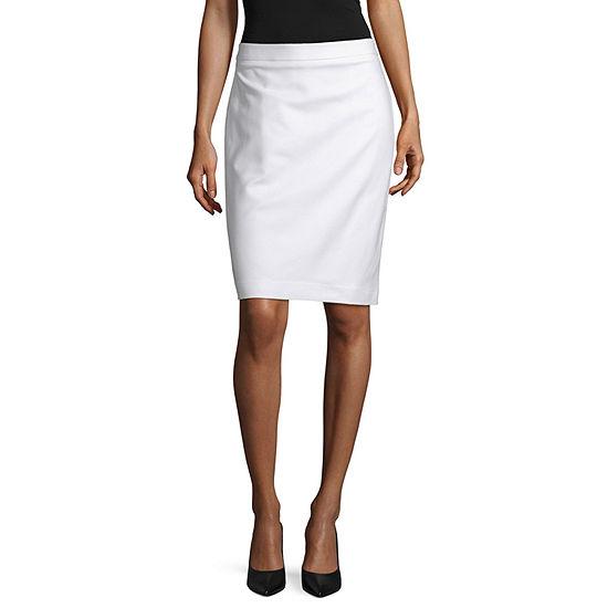 Liz Claiborne Double Cotton Pencil Skirt