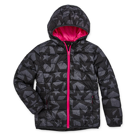Xersion - Girls Midweight Puffer Jacket-Big Kid