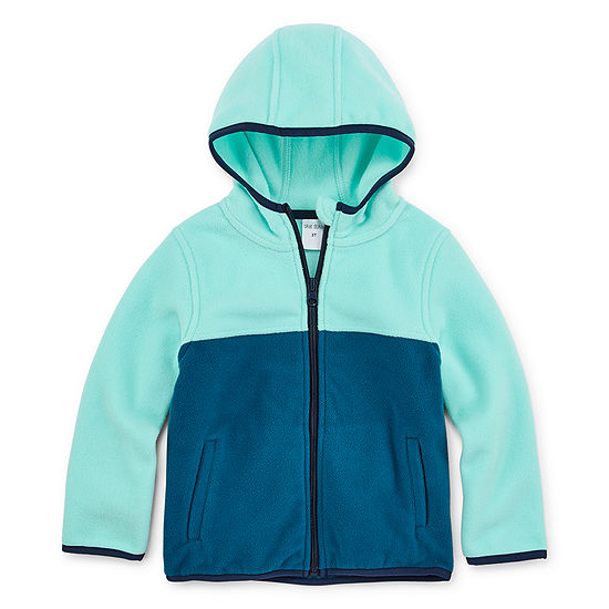 Okie Dokie Toddler Girls Polar Fleece Hooded Lightweight Jacket