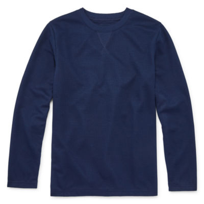 Arizona Little Kid / Big Kid Boys Knit Long Sleeve Pajama Top
