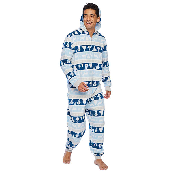 Secret Santa Chill Out Family Mens Microfleece One Piece Pajama Long Sleeve