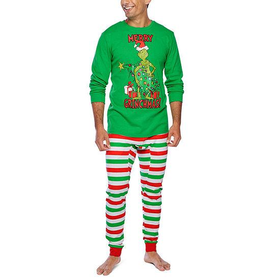 Dr. Seuss The Grinch Family Mens 2-pc. Grinch Pant Pajama Set
