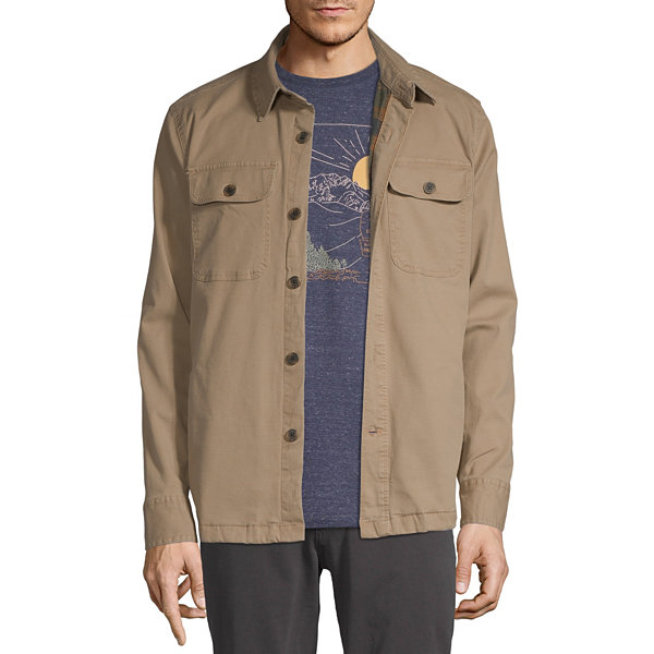 St. John's Bay Outdoor Flannel Lined Lightweight Shirt Jacket