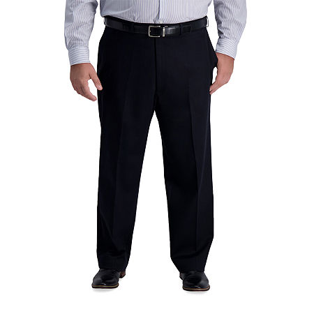 1920s Men's Pants History: Oxford Bags, Plus Four Knickers, Overalls Haggar Big  Tall Iron Free Premium Khaki Classic Fit Flat Front Pant 46 29 Black $44.99 AT vintagedancer.com
