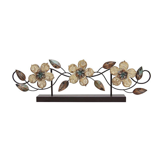 Stratton Home Decor Stamp Wood Flower Tabletop Decor