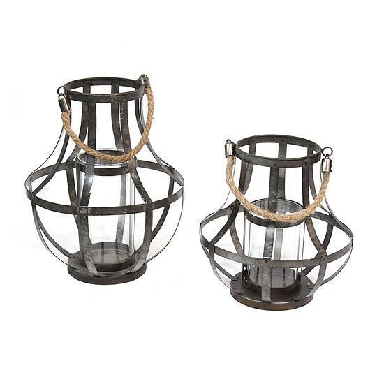 Stratton Home Decor Stratton Home Decor Set Of 2 Metal Lanterns 2-pc. Candle Holder