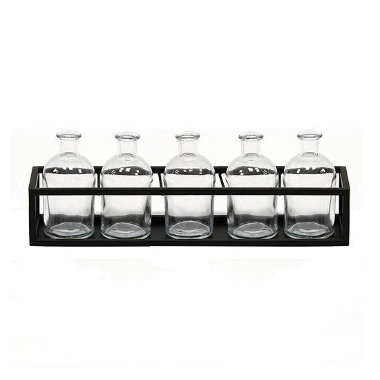 Stratton Home Decor Glass Vase Set 6-pc. Decorative Jars