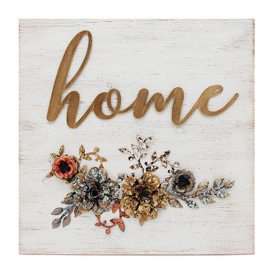 "Stratton Home ""Home"" Cottage Wall Decor Wall Sign"