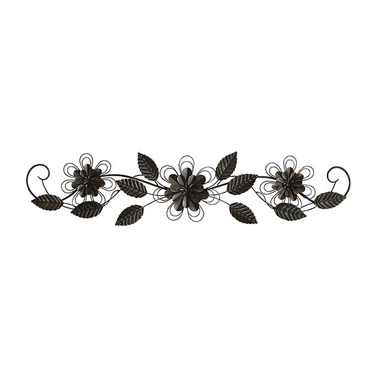Stratton Home Enchanting Over The Door Wall Decor Floral Metal Wall Art