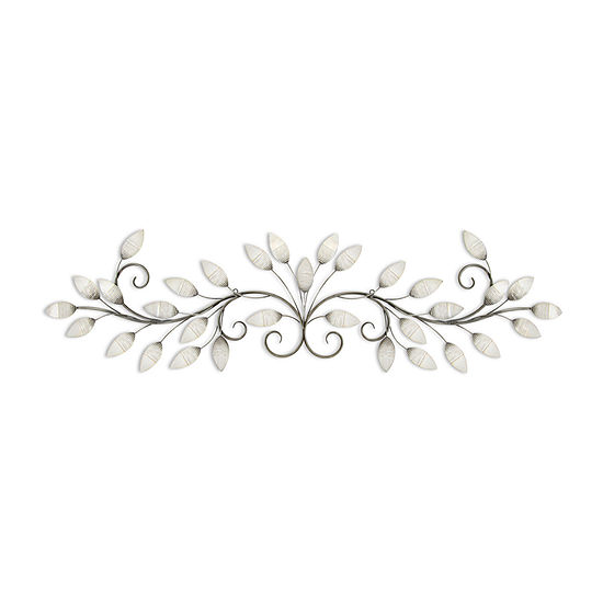 Stratton Home Decor Stratton Home Decor Brushed Pearl Over The Door Wall Decor Floral Metal Wall Art