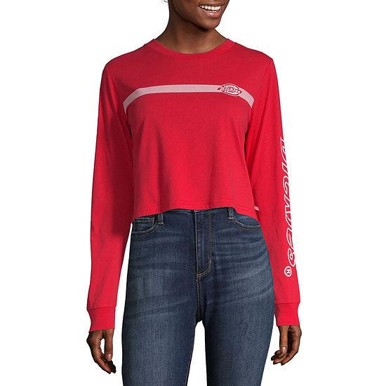 Dickies Juniors-Womens Crew Neck Long Sleeve T-Shirt