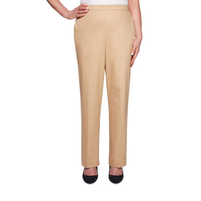 Alfred Dunner Street Smart Womens High Waisted Straight Pull-On Pants