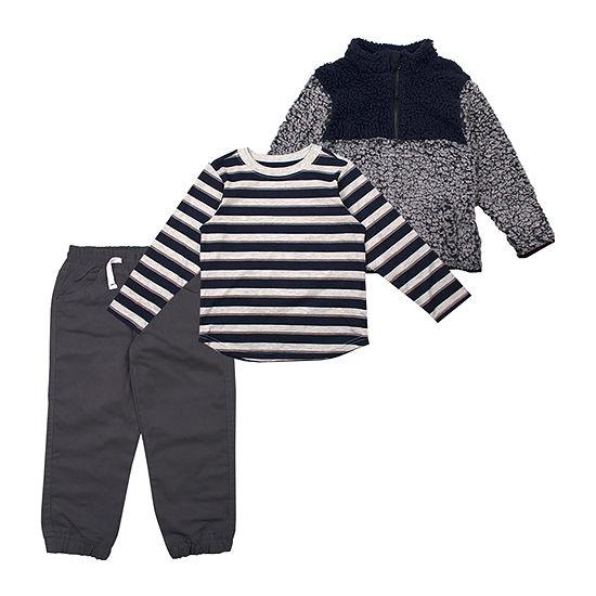 Little Rebels Boys 3-pc. Striped Pant Set Toddler