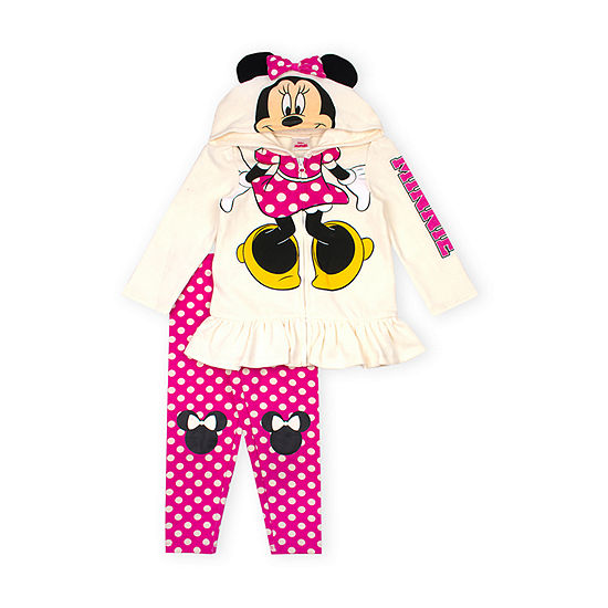 Disney Girls 2-pc. Minnie Mouse Legging Set-Toddler