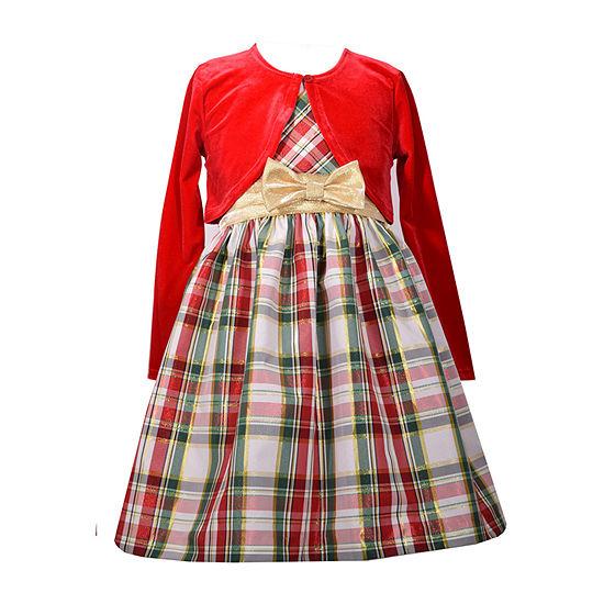 Bonnie Jean Girls Sleeveless Dress Set - Preschool / Big Kid