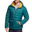 Izod Men's Hooded Midweight Puffer Jacket