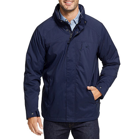 IZOD Ripstop Wind Resistant Water Resistant Midweight Puffer Jacket, Large , Blue