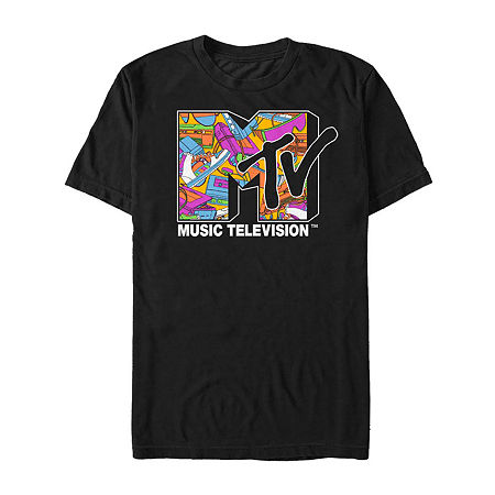 80s Tops, Shirts, T-shirts, Blouse Fifth Sun Mtv Retro Neon Collage Logo Mens Crew Neck Short Sleeve Graphic T-Shirt Size Xx-large Black $18.00 AT vintagedancer.com