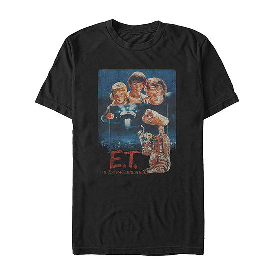 Et The Extra Terrestrial Movie Poster Mens Crew Neck Short Sleeve Graphic T-Shirt