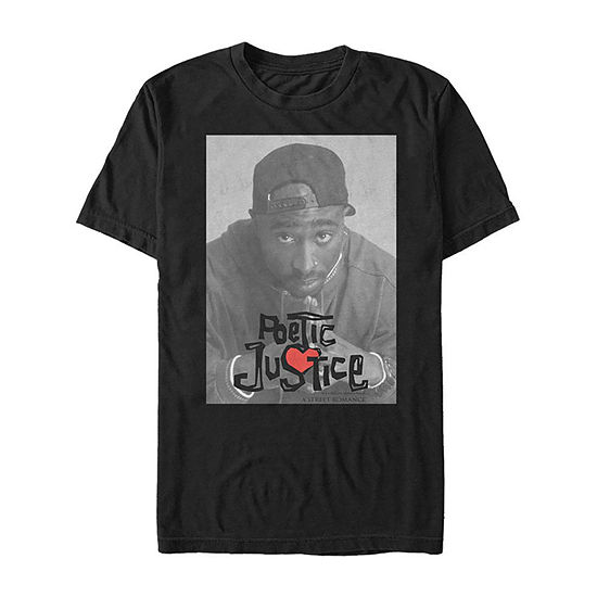Poetic Justice Poster Mens Crew Neck Short Sleeve Graphic T-Shirt
