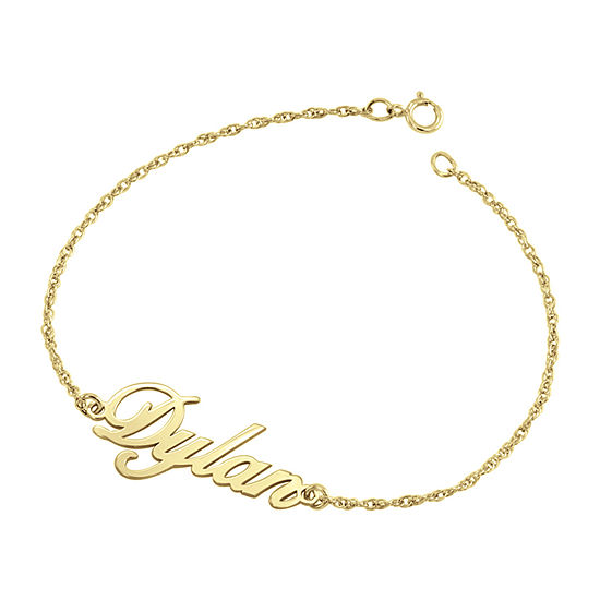 Solid 7.25 Inch Rope Chain Gold Bracelet